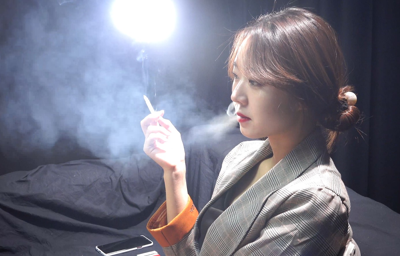 我是做演员行业的拍戏的时候剧组大家一起抽烟一起讨论剧本